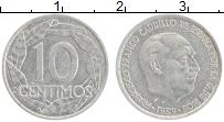 Изображение Монеты Испания 10 сентим 1959 Алюминий XF Гауди