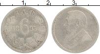 Изображение Монеты ЮАР 6 пенсов 1895 Серебро VF