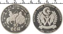 Изображение Монеты Сахара 1000 песет 1992 Серебро Proof-