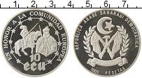 Изображение Монеты Африка Сахара 1000 песет 1992 Серебро Proof-