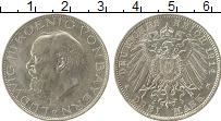 Изображение Монеты Бавария 3 марки 1914 Серебро XF Людвиг III,D