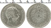 Изображение Монеты Германия Саксония 5 марок 1876 Серебро VF