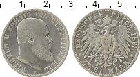 Изображение Монеты Вюртемберг 2 марки 1893 Серебро VF