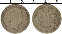 Изображение Монеты Австрия 20 крейцеров 1844 Серебро VF Фердинанд I