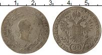 Изображение Монеты Европа Австрия 20 крейцеров 1827 Серебро XF-