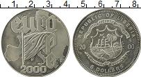 Изображение Монеты Либерия 5 долларов 2000 Медно-никель UNC- Европа