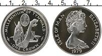 Изображение Монеты Великобритания Остров Мэн 1 крона 1979 Серебро Proof