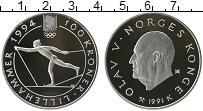 Изображение Монеты Европа Норвегия 100 крон 1991 Серебро Proof