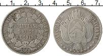 Изображение Монеты Южная Америка Боливия 1 боливиано 1868 Серебро XF