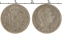 Изображение Монеты Азия Филиппины 10 сантим 1885 Серебро XF