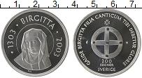 Изображение Монеты Швеция 200 крон 2003 Серебро Proof-