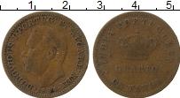 Изображение Монеты Португальская Индия 1/4 таньга 1884 Медь XF-