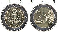 Продать Монеты Мальта 2 евро 2014 Биметалл