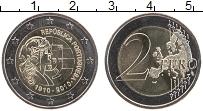 Изображение Мелочь Португалия 2 евро 2010 Биметалл UNC- 100 лет Португальско
