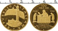 Изображение Монеты Европа Италия 100000 лир 1998 Золото Proof-
