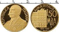 Изображение Монеты Италия 50000 лир 1993 Золото Proof-