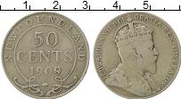 Изображение Монеты Ньюфаундленд 50 центов 1909 Серебро XF-
