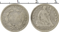 Изображение Монеты Северная Америка США 1 дайм 1858 Серебро VF