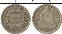 Изображение Монеты Северная Америка США 1 дайм 1857 Серебро VF