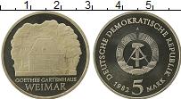 Изображение Монеты ГДР 5 марок 1982 Медно-никель Proof- Веймар
