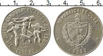 Изображение Монеты Северная Америка Куба 1 песо 1981 Медно-никель UNC-