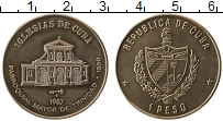 Изображение Монеты Куба 1 песо 1987 Медно-никель UNC- Приходская церковь в