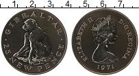 Изображение Монеты Великобритания Гибралтар 25 пенсов 1971 Медно-никель UNC-