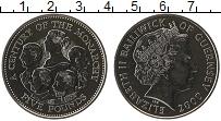 Изображение Монеты Гернси 5 фунтов 2000 Медно-никель UNC-