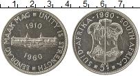 Изображение Монеты ЮАР 5 шиллингов 1960 Серебро XF 50-летие Южно-Африка