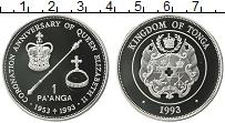 Изображение Монеты Тонга 1 паанга 1993 Серебро Proof