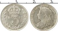 Изображение Монеты Европа Великобритания 3 пенса 1897 Серебро XF