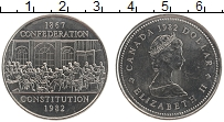Изображение Монеты Канада 1 доллар 1982 Медно-никель XF Елизавета II.  Конфе