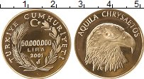 Изображение Монеты Азия Турция 50000000 лир 2001 Золото UNC