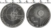 Изображение Монеты Португалия 8 евро 2004 Серебро UNC