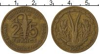 Изображение Монеты Западная Африка 25 франков 1957 Латунь XF-