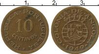 Изображение Монеты Ангола 10 сентаво 1949 Бронза XF Португальская колони