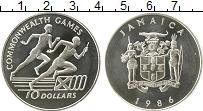 Изображение Монеты Северная Америка Ямайка 10 долларов 1986 Серебро UNC