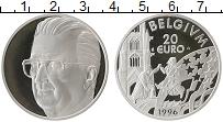 Изображение Монеты Европа Бельгия 20 евро 1996 Серебро Proof