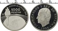 Изображение Монеты Европа Испания 1000 песет 1995 Серебро Proof