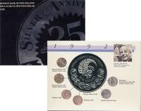 Изображение Подарочные монеты Новая Зеландия 25 лет перехода на десятичную систему 1992 Медно-никель UNC