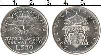 Изображение Монеты Европа Ватикан 500 лир 1963 Серебро UNC-