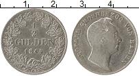 Изображение Монеты Баден 1/2 гульдена 1845 Серебро XF