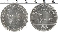 Изображение Монеты Италия 1000 лир 1997 Латунь UNC