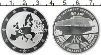 Изображение Монеты Франция 1 1/2 евро 2008 Серебро Proof- 50 - летие  Европарл