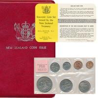Изображение Подарочные монеты Новая Зеландия Регулярный чекан 1975 года 1975  UNC В наборе 7 монет ном