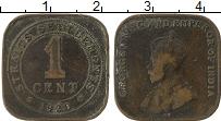 Изображение Монеты Стрейтс-Сеттльмент 1 цент 1920 Бронза VF