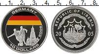 Изображение Монеты Африка Либерия 10 долларов 2005 Серебро Proof-