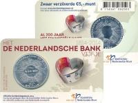 Изображение Подарочные монеты Нидерланды 5 евро 2014 Посеребрение UNC