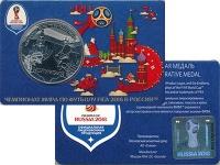 Изображение Подарочные монеты Россия Жетон 2018 Медно-никель UNC Колумбия. Участники