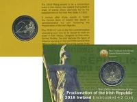 Изображение Подарочные монеты Ирландия 2 евро 2016 Биметалл UNC